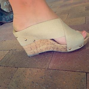 Gold Wedge Shoes